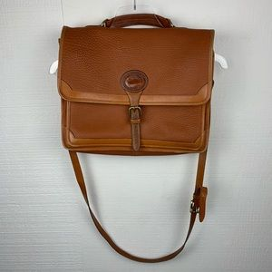 Vintage Dooney & Bourke Brown Leather Messenger